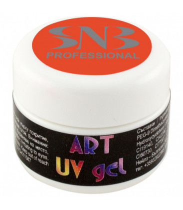 SNB Art UV Gel Colorat Portocaliu