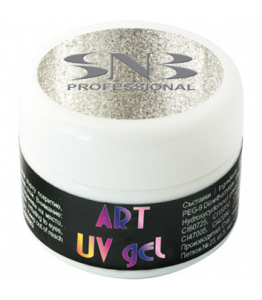 SNB Art UV Gel Colorat Argintiu