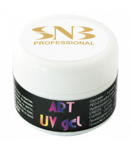 SNB Art UV Gel Colorat White