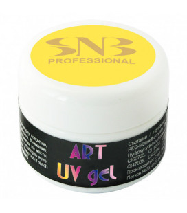SNB Art UV Gel Colorat Yellow Pastel