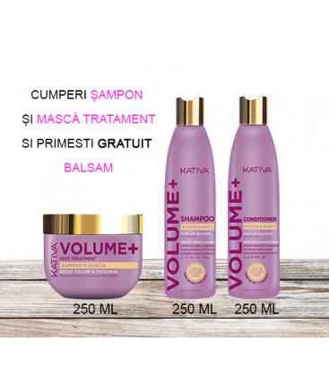 Kativa Kit pentru Volum + – Balsam 250 ml GRATUIT