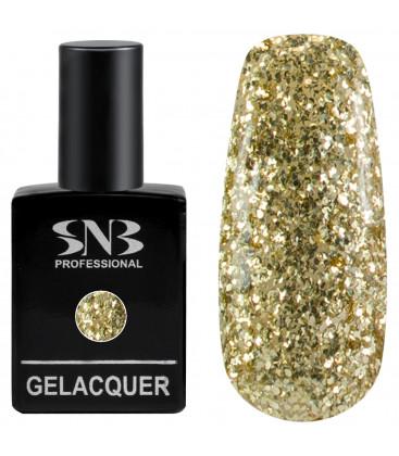 SNB Gelacquer Lac semi-permanent 191 Glitter auriu