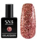 SNB Gelacquer Lac semi-permanent 193 Glitter Rosu