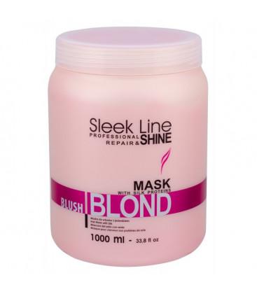 Stapiz Masca pentru par blond, gri sau decolorat cu efect de colorare roz