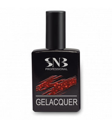 SNB Gelacquer Lac semi-permanent GLD001- Rosu cu Sclipici