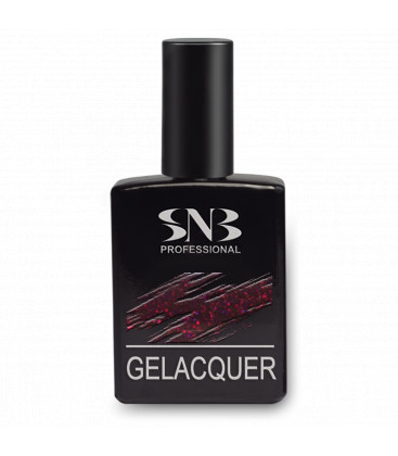 SNB Gelacquer Lac semi-permanent GLD002- Grena cu Sclipici