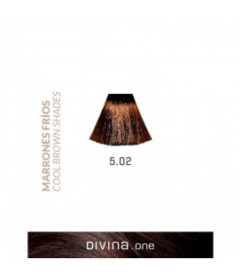Vopsea de par 5.02 Monaco Brown 100 ml Divina.One Eva Professional