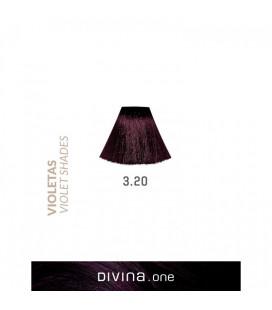Vopsea de par 3.20 Indigo Violet 100 ml Divina.One Eva Professional