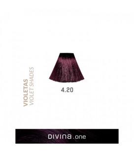 Vopsea de par 4.20 Blueberry Violet 100 ml Divina.One Eva Professional