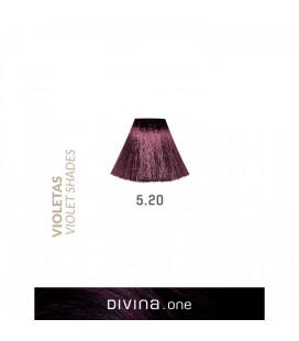Vopsea de par 5.20 Grape Violet 100 ml Divina.One Eva Professional