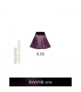 Vopsea de par 6.20 Blackberry Violet 100 ml Divina.One Eva Professional