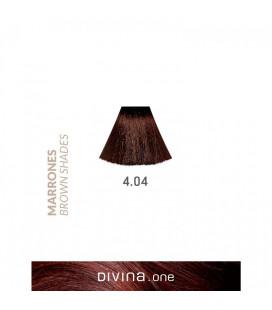 Vopsea de par 4.04 Cofee Brown 100 ml Divina.One Eva Professional