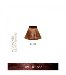 Vopsea de par 6.35 Glace Brown 100 ml Divina.One Eva Professional