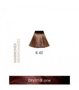 Vopsea de par 6.42 Brown Ice Brown 100 ml Divina.One Eva Professional