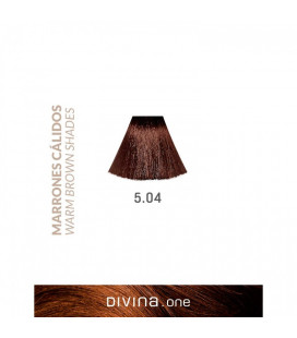 Vopsea de par 5.04 Chocolate Brown 100 ml Divina.One Eva Professional