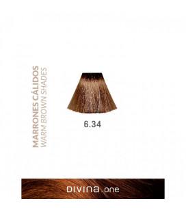 Vopsea de par 6.34 Mocha Brown 100 ml Divina.One Eva Professional