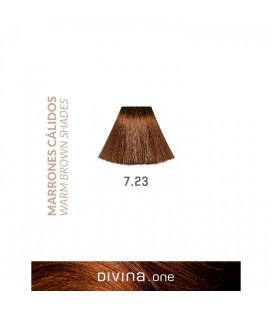 Vopsea de par 7.23 Cappuccino Brown 100 ml Divina.One Eva Professional