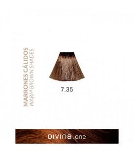 Vopsea de par 7.35 Irish Brown 100 ml Divina.One Eva Professional