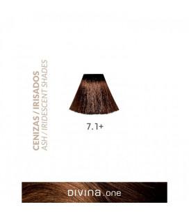 Vopsea de par 7.1+ Light Ash Plus 100 ml Divina.One Eva Professional