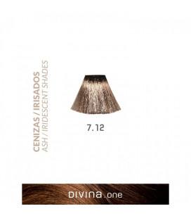 Vopsea de par 7.12 Light Iridescent 100 ml Divina.One Eva Professional