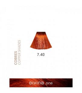 Vopsea de par 7.40 Bourbon Coppery 100 ml Divina.One Eva Professional