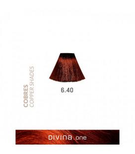 Vopsea de par 6.40 Amaretto Coppery 100 ml Divina.One Eva Professional