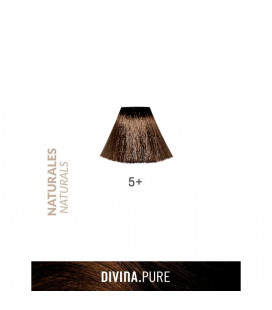 Vopsea de par fara amoniac 5+ Intense Dark Blonde 60 ml Divina.Pure Eva Professional