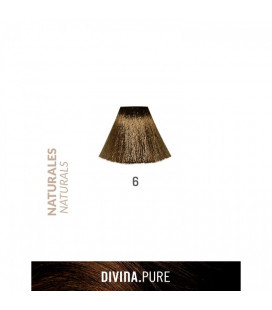 Vopsea de par fara amoniac  6 Dark Blonde 60 ml  Divina.Pure  Eva Professional