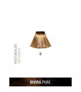 Vopsea de par fara amoniac 8 Light Blonde 60 ml Divina.Pure Eva Professional