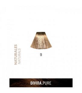 Vopsea de par fara amoniac 9 Lightest Blonde 60 ml Divina.Pure Eva Professional