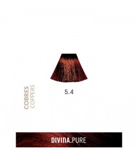 Vopsea de par fara amoniac  5.4 Dark Coppery Brown 60 ml  Divina.Pure  Eva Professional