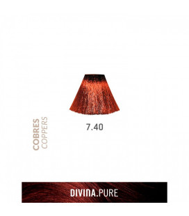 Vopsea de par fara amoniac  7.40 Very Light Coppery Brown 60 ml  Divina.Pure  Eva Professional