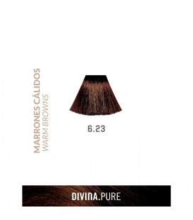 Vopsea de par fara amoniac  6.23 Mediterranean Sand 60 ml  Divina.Pure  Eva Professional