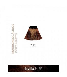 Vopsea de par fara amoniac  7.23 Light Mediterranean Sand 60 ml  Divina.Pure  Eva Professional