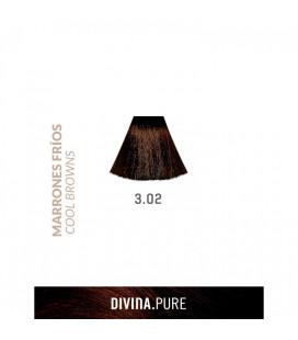 Vopsea de par fara amoniac  3.02 Dark Brown 60 ml  Divina.Pure  Eva Professional