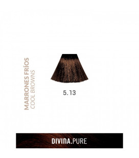 Vopsea de par fara amoniac  5.13 Chestnut Brown 60 ml  Divina.Pure  Eva Professional