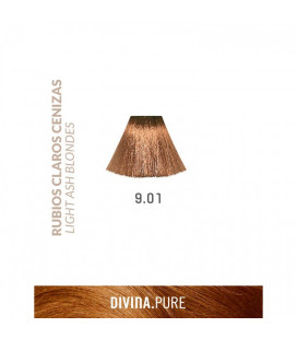 Vopsea de par fara amoniac 9.01 Silvery Blonde 60 ml Divina.Pure Eva Professional