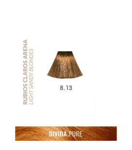 Vopsea de par fara amoniac  8.13 Light Sandy Blonde 60 ml  Divina.Pure  Eva Professional