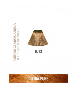 Vopsea de par fara amoniac  9.13 Lightest Sandy Blonde 60 ml  Divina.Pure  Eva Professional