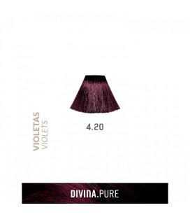 Vopsea de par fara amoniac 4.20 Violin Dark Brown 60 ml Divina.Pure Eva Professional
