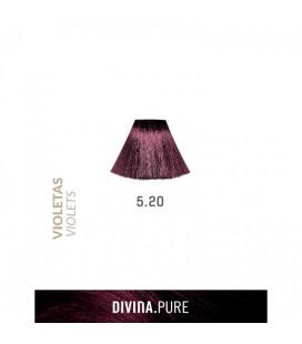 Vopsea de par fara amoniac 5.20 Light Violin Brown 60 ml Divina.Pure Eva Professional