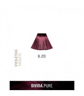 Vopsea de par fara amoniac  6.20 Violet  60 ml  Divina.Pure  Eva Professional