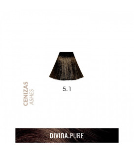 Vopsea de par fara amoniac 5.1 Darkest Ash 60 ml Divina.Pure Eva Professional