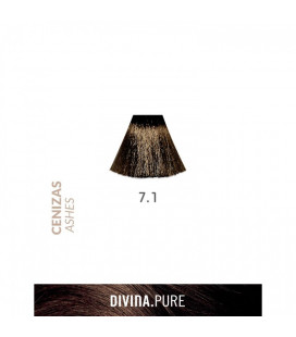 Vopsea de par fara amoniac  7.1 Light Ash 60 ml  Divina.Pure  Eva Professional