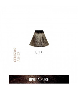 Vopsea de par fara amoniac 8.1+ Lightest Ash Plus 60 ml Divina.Pure Eva Professional
