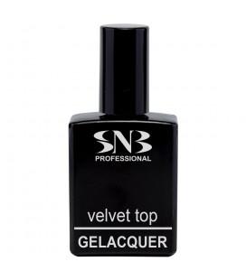 SNB Gelacquer Velvet Top pentru semipermanent- cu efect de catifea