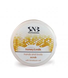 SNB Scrub pentru maini si corp cu sare de Himalaya, miere si lapte
