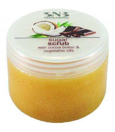 SNB Scrub cu zahar, unt de cacao si uleiuri vegetale pentru picioare si corp