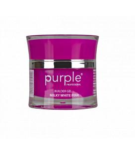 Purple Gel bifazic pentru constructie Milky White Pink
