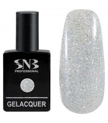 SNB Gelacquer Lac semi-permanent 01 Glitter Silver